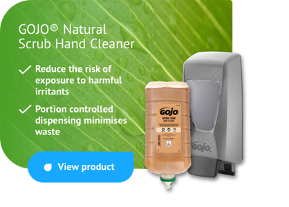 GOJO Natural Scrub Hand Cleaner - portion controlled dispensing minimises waste
