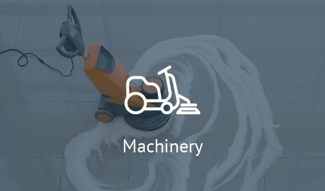 Machinery - vacuums, motorscrubber, i-mop, scrubber dryers, carpet cleaners