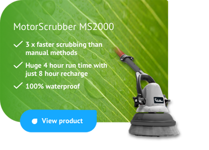 MotorScrubber - battery powered mini scrubbing machine