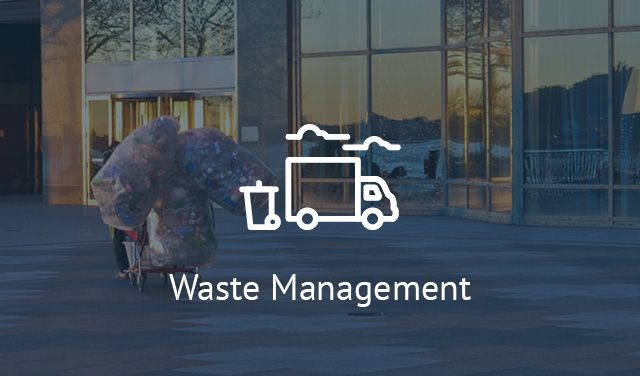 Waste Management - refuse sacks, dust control, brushware, litter & recycling