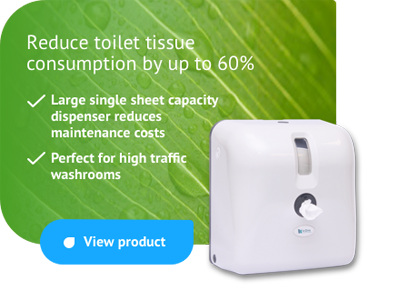 k-One Toilet Tissue - reduce toilet tissue consumption by up to 60%